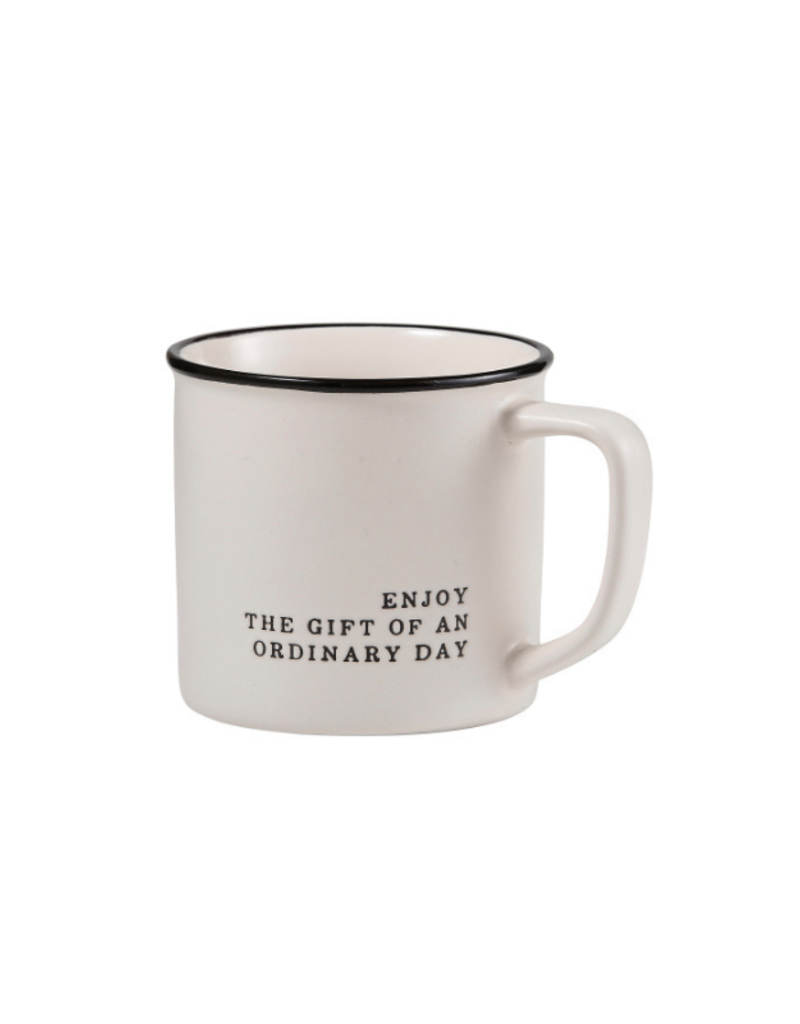 "creative brands ""Enjoy The Gift"" Stoneware Coffee Mug"