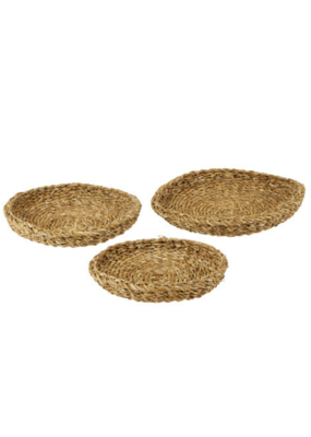 creative brands Seagrass Round Tray Set of 3
