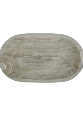 creative brands Large Grey Paulownia Wood Platter