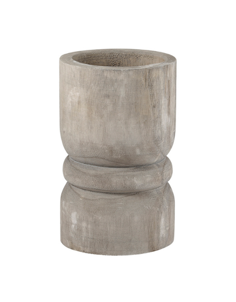 creative brands Grey Paulownia Wood  Pillar