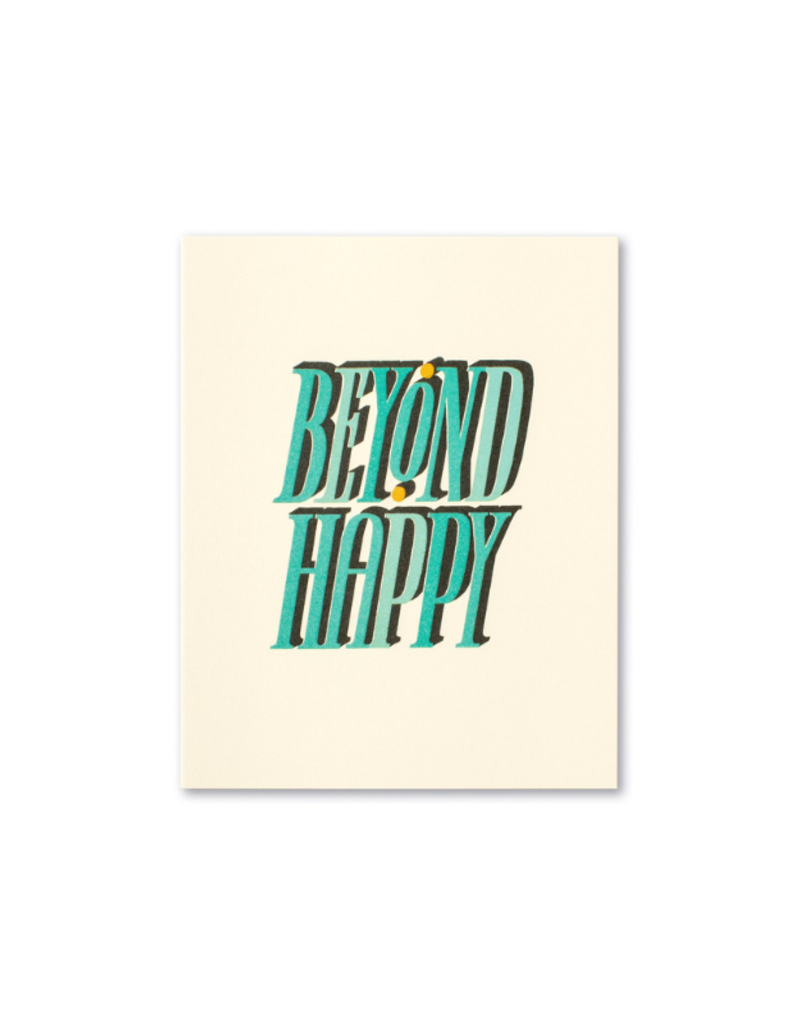 Beyond Happy Engagement Card