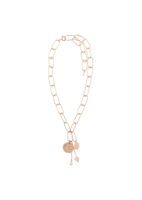 PILGRIM Warmth Rose-Plated Necklace by Pilgrim