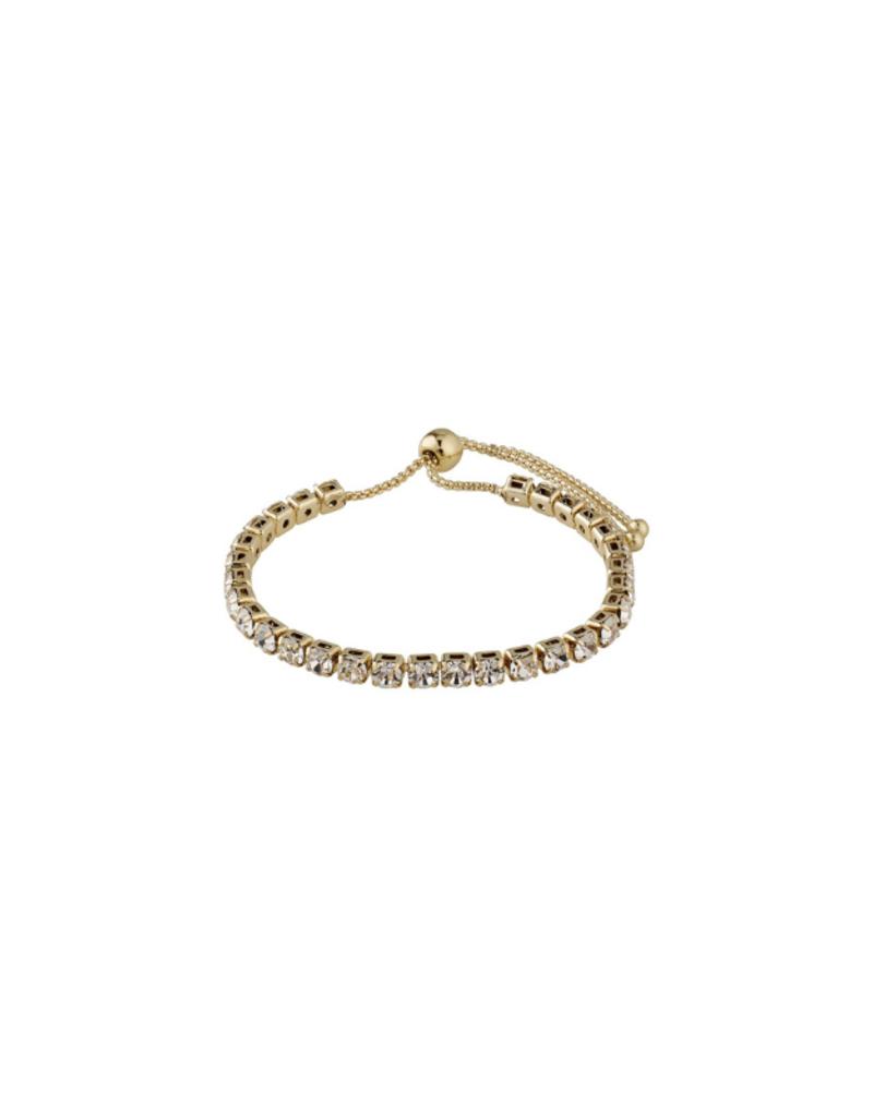PILGRIM Lucia Crystal Gold-Plated Bracelet by Pilgrim
