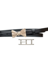 source apparel Black Leather Skinny Belt with 2 Buckle Options