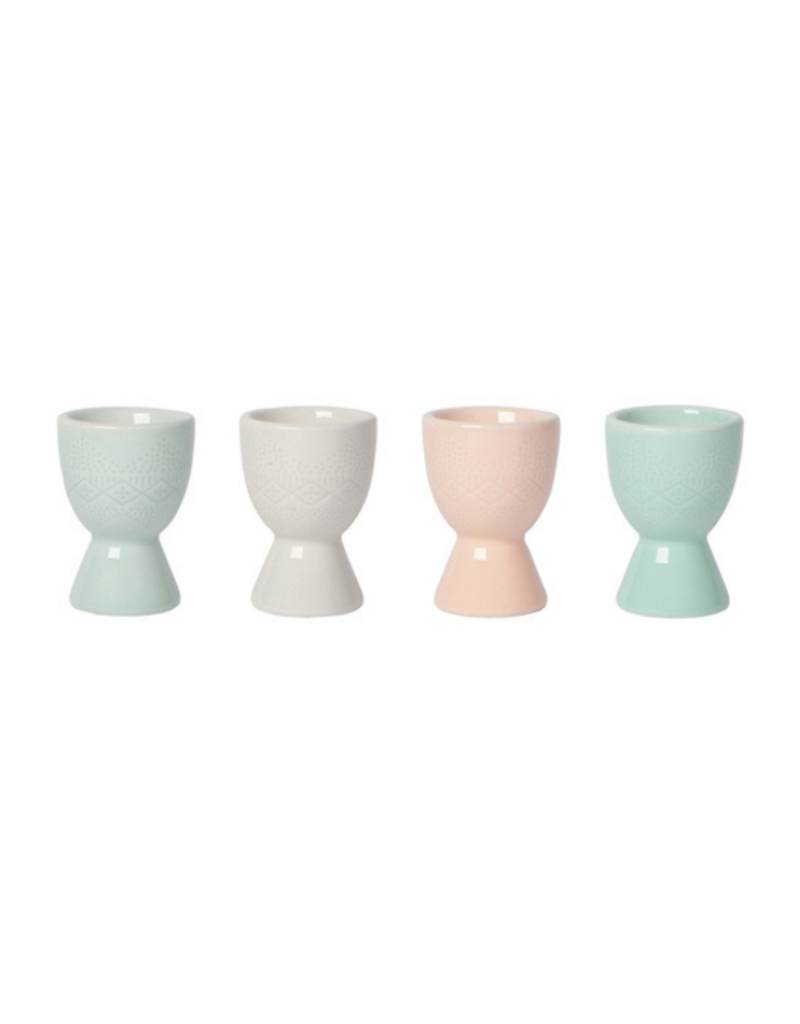 Embossed Egg Cup Set/4
