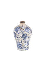 creative brands Small Vintage-Inspired Blue Vase