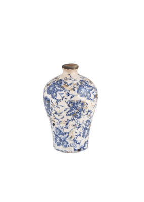 creative brands Small Vintage-Inspired Blue Vase