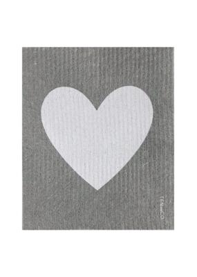 Ten & Co. Swedish Sponge Cloth Big Love Grey