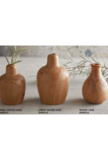 creative brands Large Wood Vase with Rounded Opening
