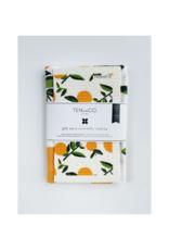 Ten & Co. Swedish Sponge & Towel Gift Set in Citrus Orange
