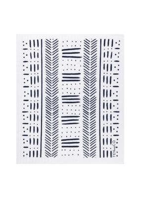 Ten & Co. Swedish Sponge Cloth Mudcloth White & Black