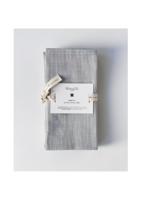 Ten & Co. Ten & Co. Set of 4 Denim Stripe Napkins