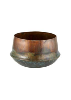 creative brands Large Oxidized Copper Planter
