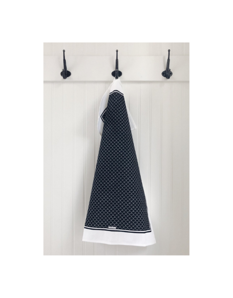 Ten & Co. Swedish Sponge &. Towel Gift Set Black Scallop