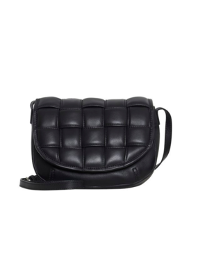 ICHI Leonora Leather Bag Black by ICHI