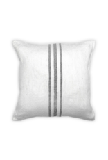 Moroccan Middle Stripe Light Grey Pillow