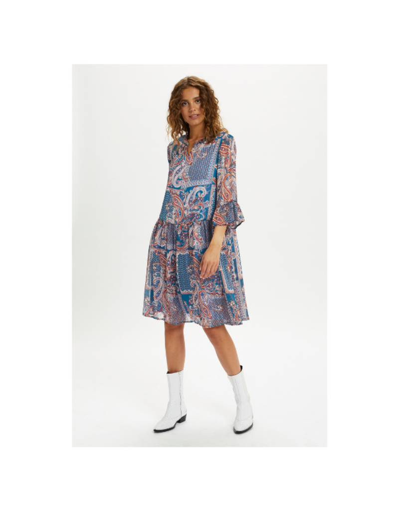 Sheena Dress in Blue Paisley by Cream