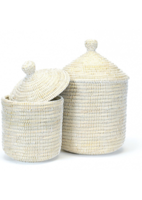Coiled Grass Hamper