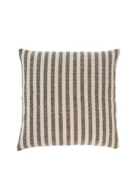 Indaba Trading Ingram Stripe Pillow Charcoal