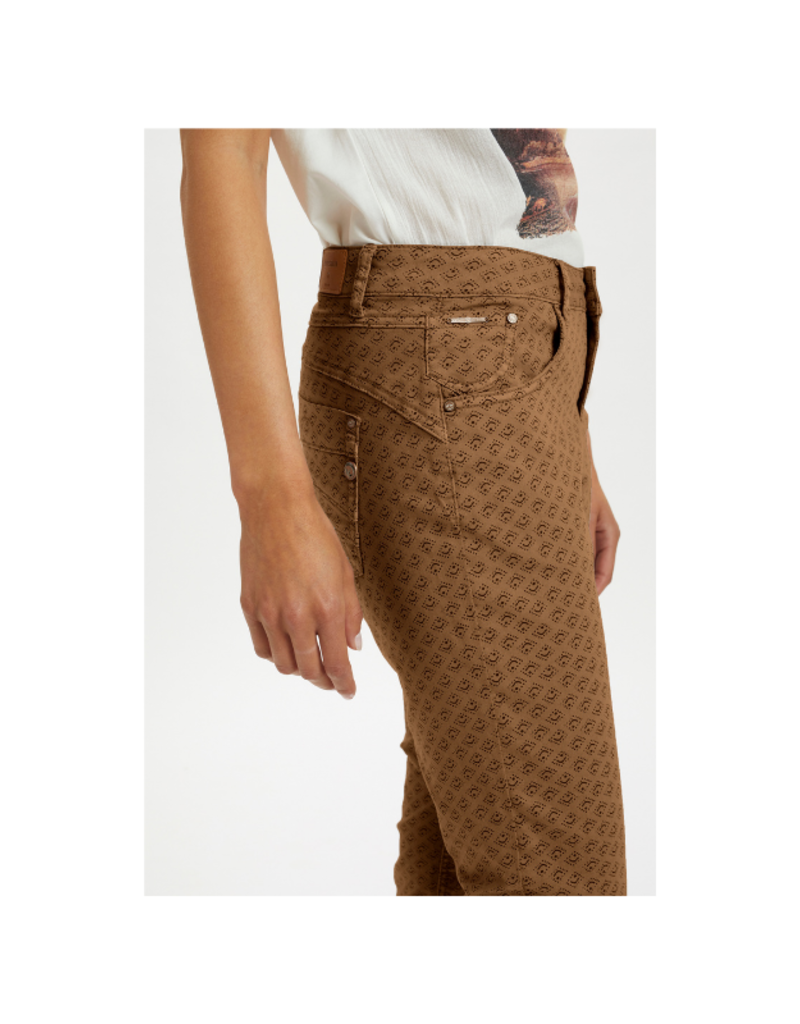 Lotte Printed Twill Pant in Rawhide by Cream