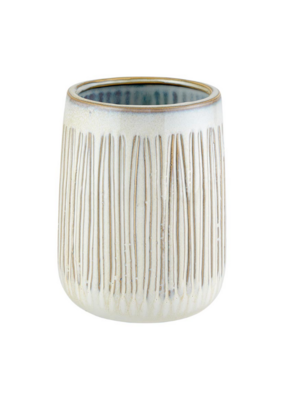 creative brands Textured Tall Cream Planter