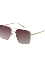 PILGRIM Sage Gold-Plated Sunglasses in Grey by Pilgrim