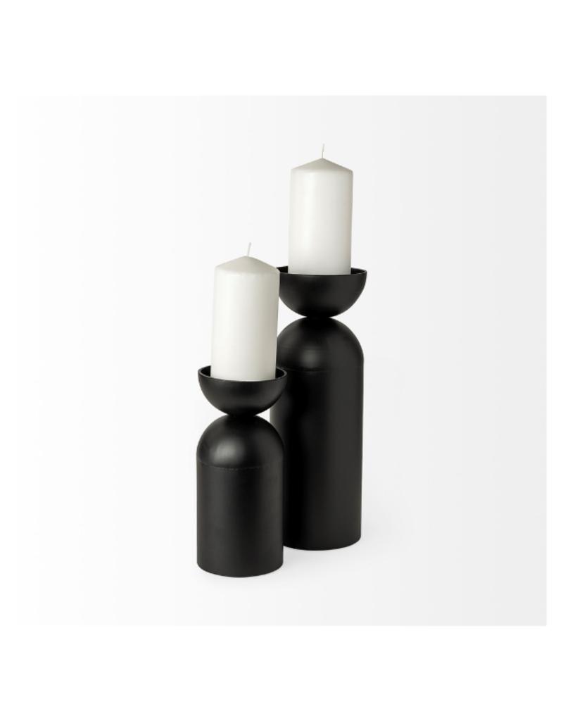 mercana Alex Black Metal Cylinder Candleholder