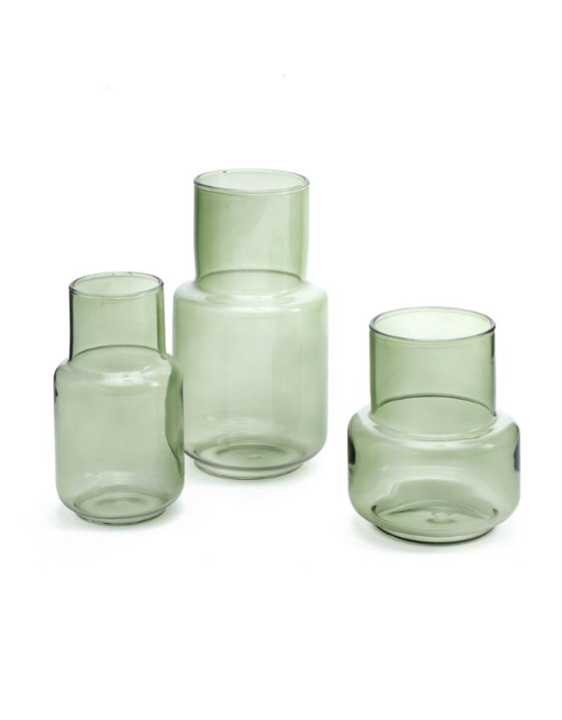 Vienna Dark Green Glass Vases