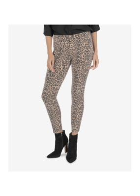 Kut from the Kloth Donna Ankle Skinny with Raw Hem in Animal Print by Kut from the Kloth