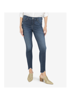 Kut from the Kloth Connie High Rise Ankle Skinny with Fab Ab in Hello Wash by Kut from the Kloth