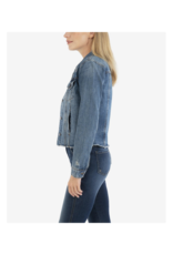 Kut from the Kloth Julia Crop Jacket in Pushing Wash by Kut from the Kloth