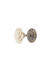 Ceramic Flower Tie Back Ivory