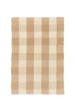 Woven Jute Runner Natural & White Check 2x7