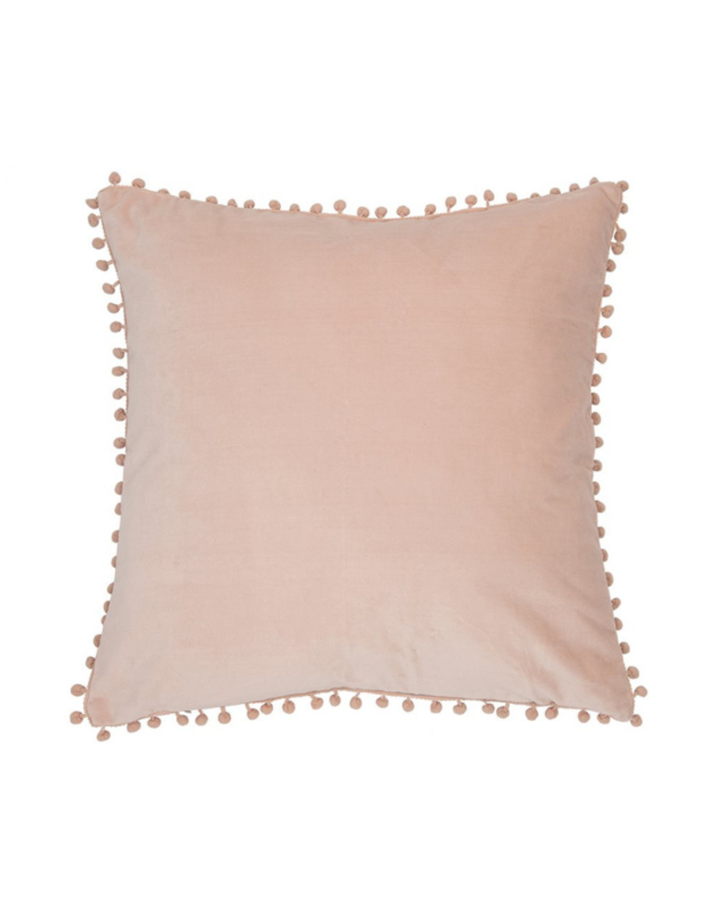 Velvet Soft Pink Cushion