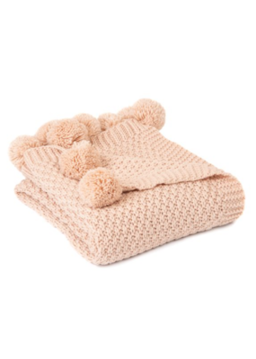 Melon Soft Pink Throw