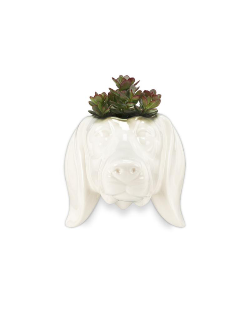 Animal Wall Planter Dachshund Head