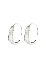 PILGRIM Compass Earrings Silver-Plated by Pilgrim