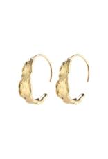 PILGRIM Compass Earrings Gold-Plated by Pilgrim