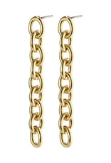 PILGRIM Heritage Chain Earrings Gold-Plated by Pilgrim