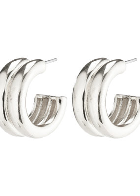 PILGRIM Heritage Hoop Earrings Silver-Plated by Pilgrim