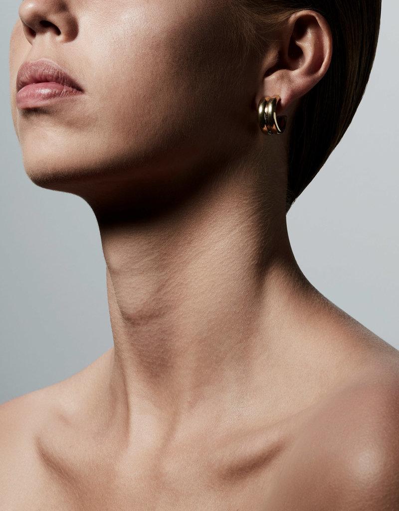 PILGRIM Heritage Hoop Earrings Gold-Plated by Pilgrim