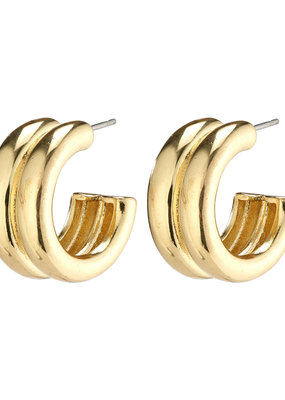 PILGRIM Heritage Hoop Earrings Gold-Plated by Pilgrim