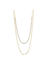 PILGRIM Cherished 2-in1 Necklace in Gold-Plated Multi by Pilgrim