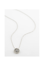 PILGRIM Cherished Coin Necklace Silver-Plated Crystal by Pilgrim