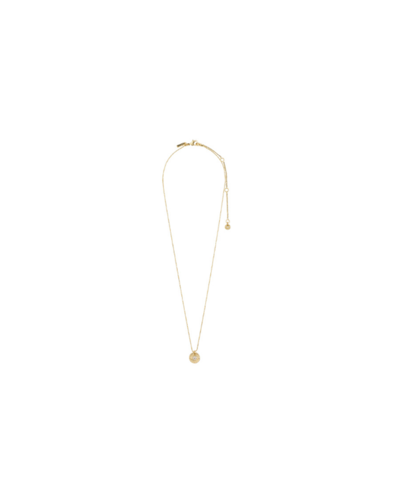 PILGRIM Cherished Coin Necklace Gold-Plated Crystal by Pilgrim