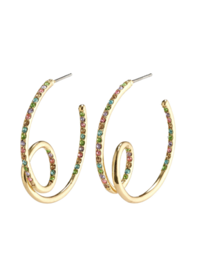 PILGRIM Cherished Semi-Hoops Gold-Plated Multi by Pilgrim