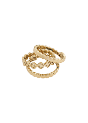 PILGRIM Cherished 3-Ring Set Gold-Plated by Pilgrim