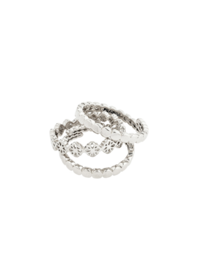 PILGRIM Cherished 3-Ring Set Silver-Plated by Pilgrim