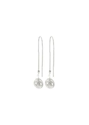 PILGRIM Cherished Third-Eye Chain Earrings Silver-Plated Crystal by Pilgrim