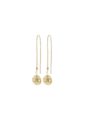 PILGRIM Cherished Third-Eye Chain Earrings Gold-Plated Crystal by Pilgrim